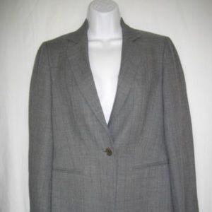 Gray Sisley Single Breasted Pin Stripe Jacket